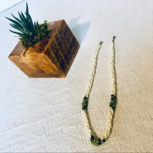 Green & White Shell Necklace